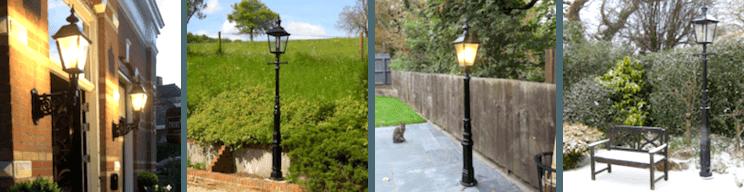 Bekijk foto's van klanten van onze gietijzeren tuinlantaarns, buitenlantaarns en lantaarnpalen.